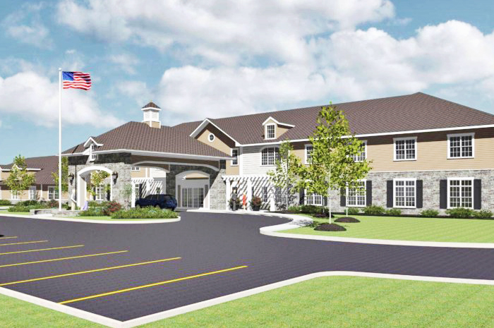 Rendering of the new Maumee Pointe assisted living and memory care facility