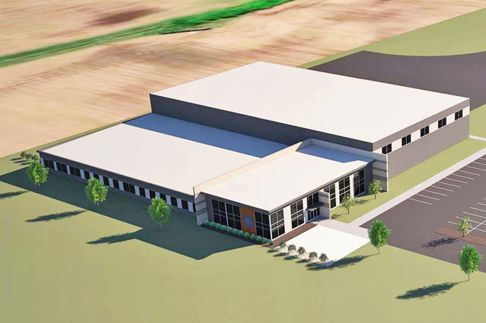 Aerial rendering of PERRY proTECH's new headquarters in Lima