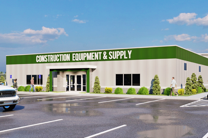 Rendering of Construction Equipment & Supply's new facility